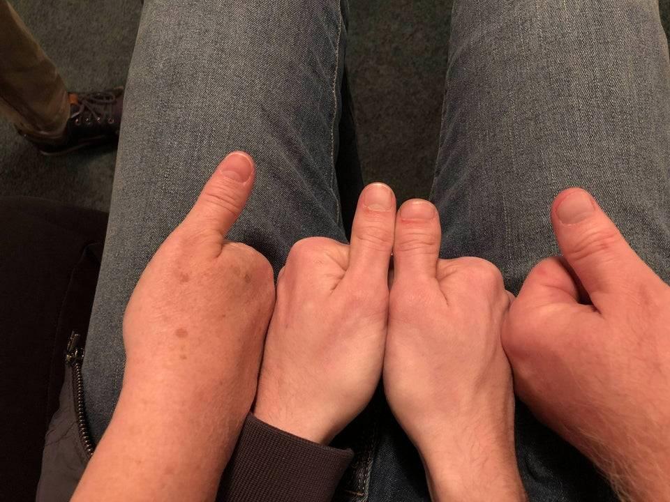 one thumb per parent