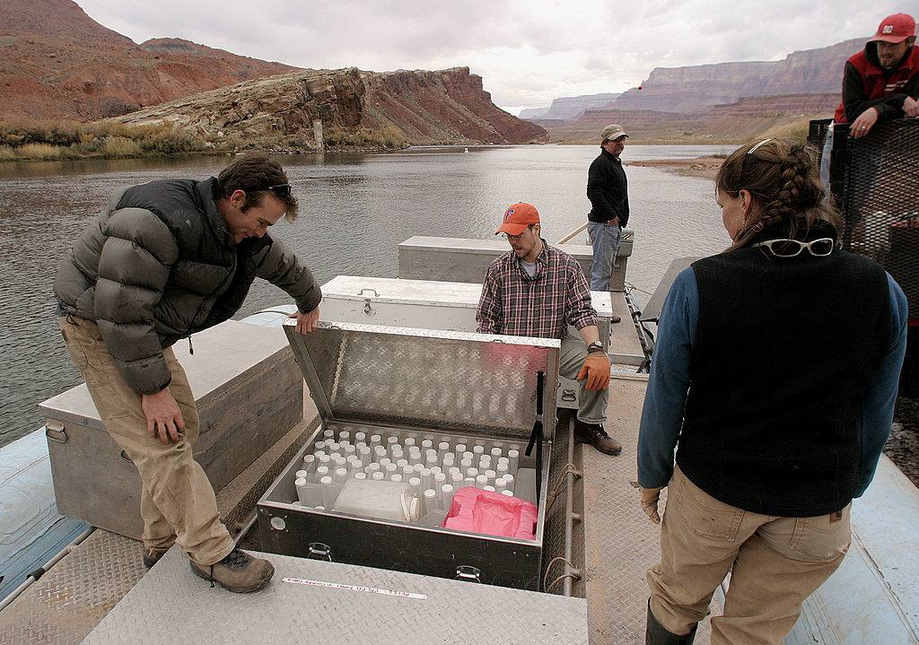 Scientists on a boat