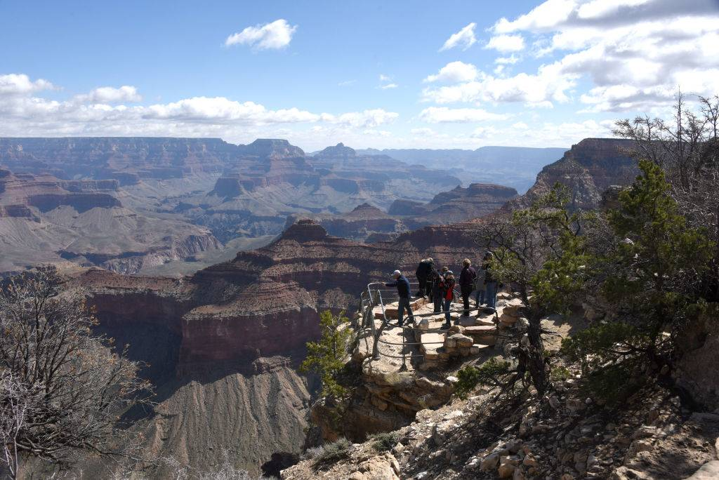People at the Grand Canyon