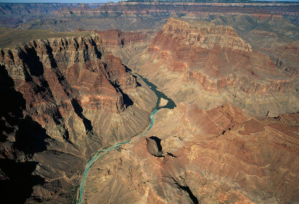 Arial shot of the canyon