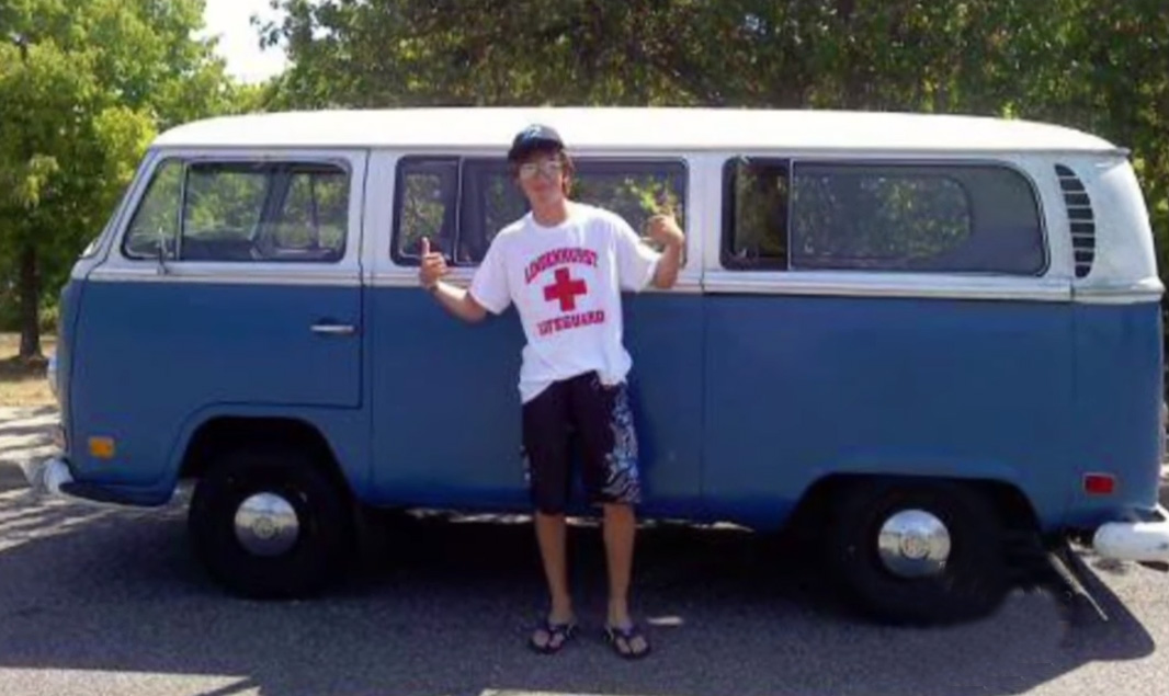 16-year-old-Kyle with his future vw bus