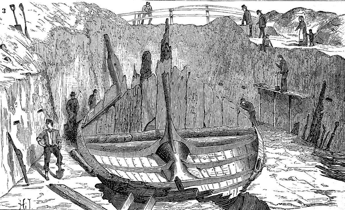 The Gokstad ship is a 9th-century Viking ship found in a burial mound at Gokstad in Sandar