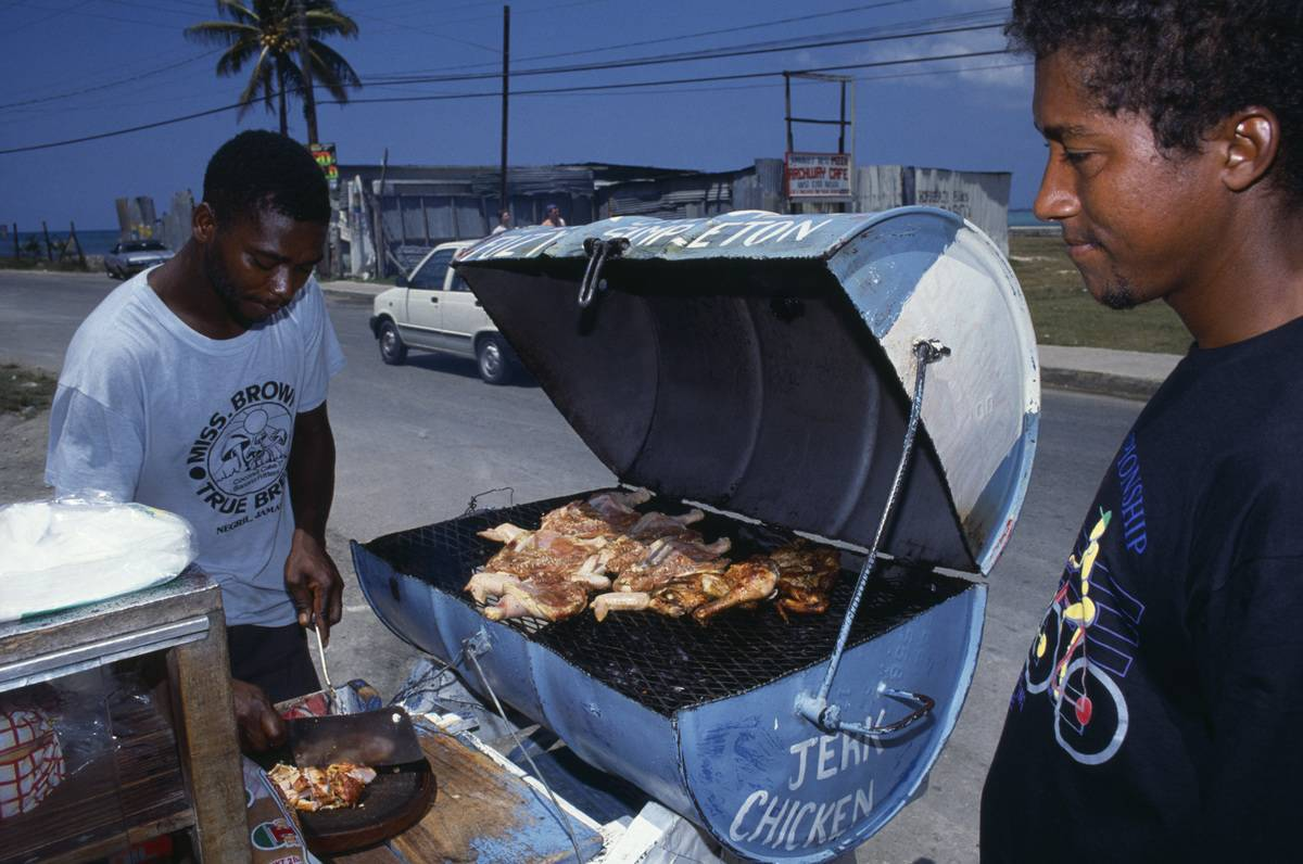 Jerk Chicken In Jamaica