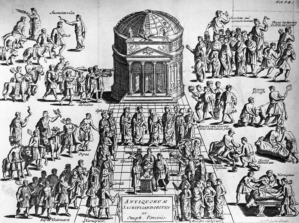 Drawing of the Pantheon