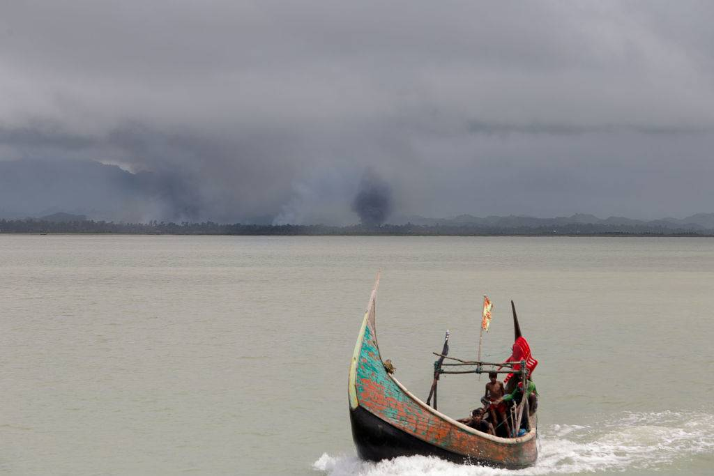 the Bangladesh side of the Naf River