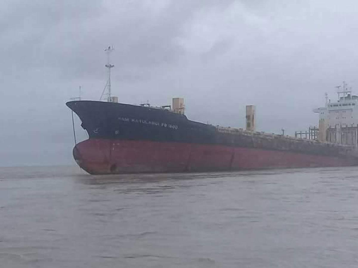 the ghost ship in the ocean in myanmar