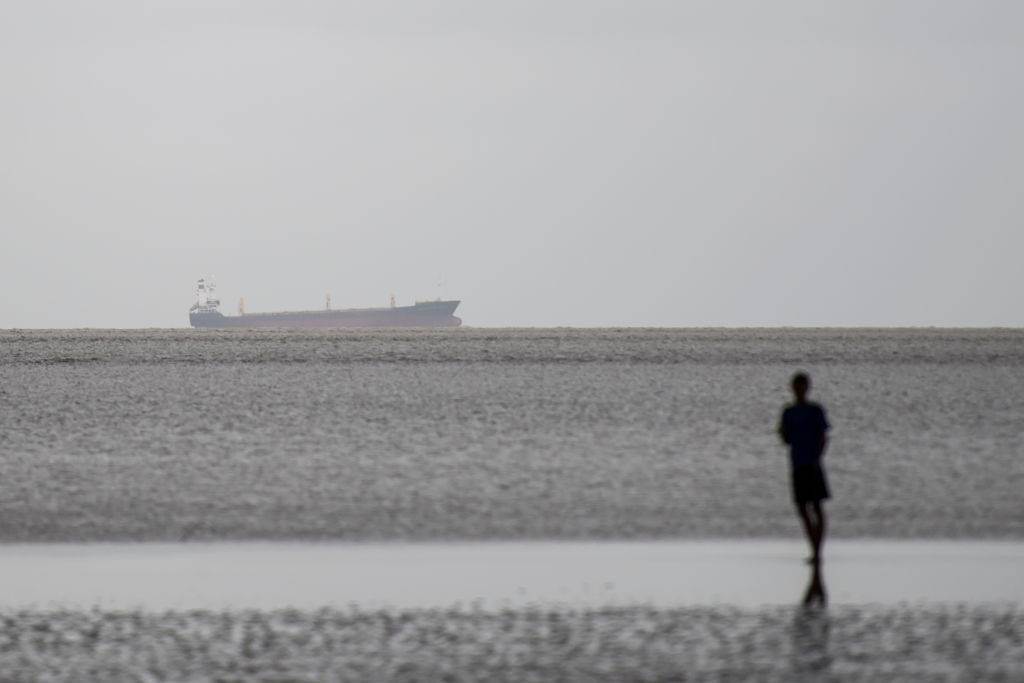 The abadoned Indonesian ship