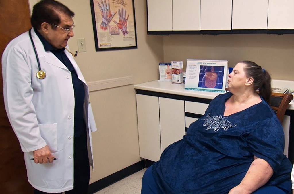 Picture of Dr. Now and patient