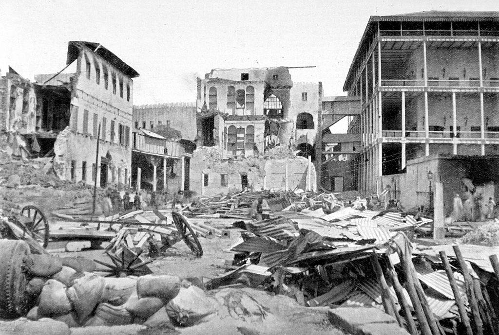 Picture of destroyed building