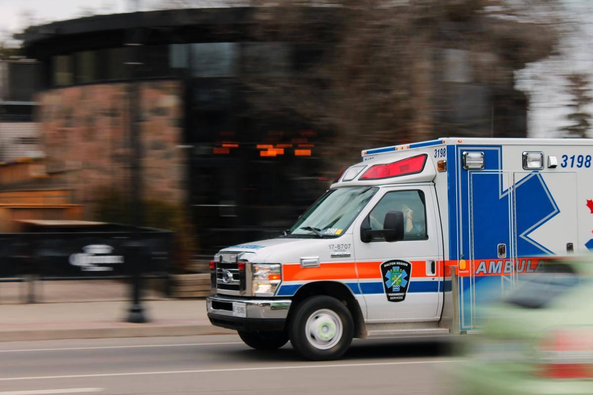 ambulance driving on street