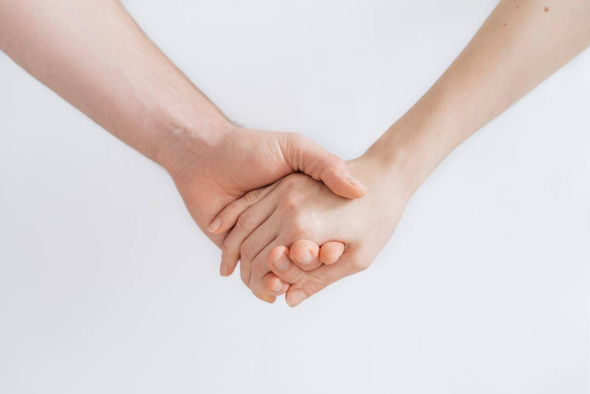 two hands being held